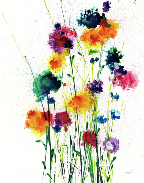 Wall Art - Painting - New Blooms On White by Jan Griggs