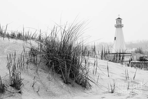 Sand Dunes Photograph - New Buffalo Michigan Lighthouse And Beach Grass by Paul Velgos