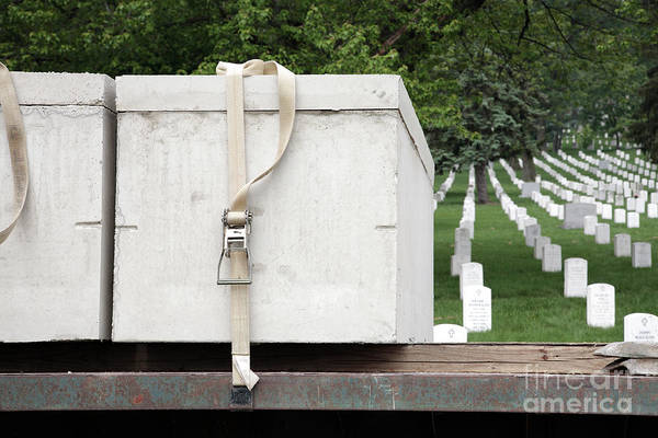 Photograph - New Burial Vaults Ready At Arlington National Cemetery by William Kuta