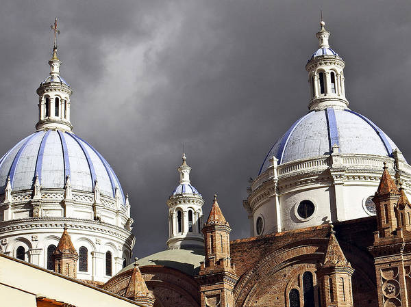 Photograph - New Cathedral Cuenca Ecuador by Kurt Van Wagner
