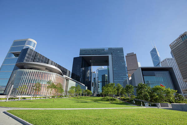 Election Photograph - New Central Government Complex by Winhorse