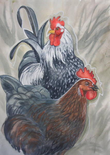 Painting - New Chick In Town by Sherri Anderson