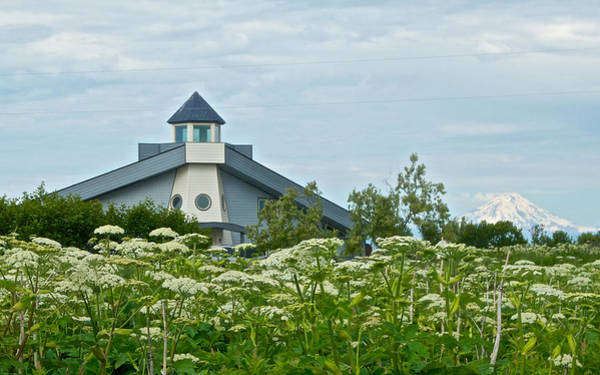 Mount Redoubt Photograph - New Church In Ninilchik-ak  by Ruth Hager
