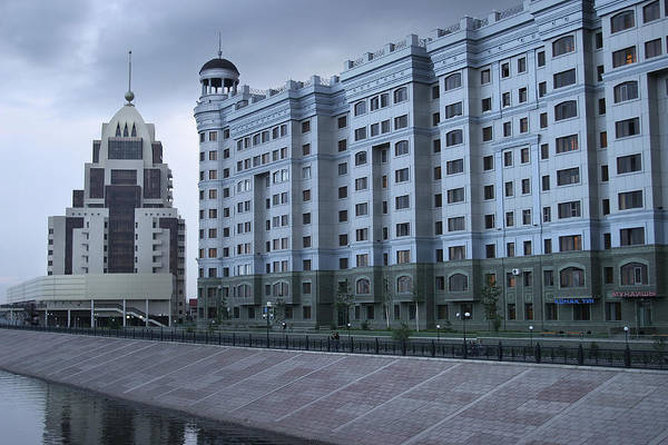 Central Asia Photograph - New Construction In Kazakhstans New by Christopher Herwig