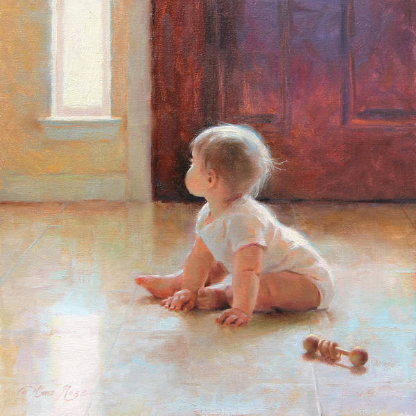 Infant Painting - New Discoveries by Anna Rose Bain