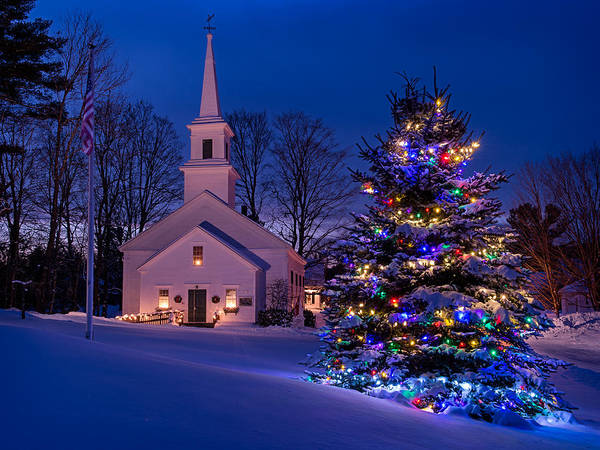 Wall Art - Photograph - New England Christmas by Michael Blanchette