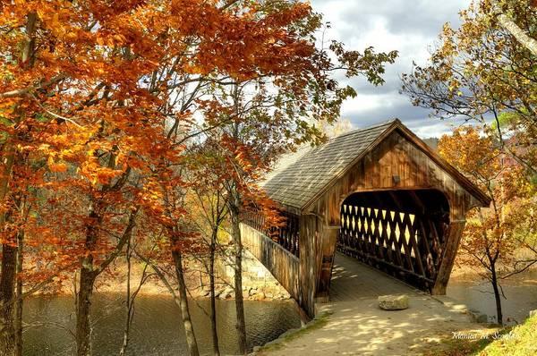 Henniker Photograph - New England Covered Bridge by Monica Scanlan