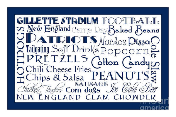 Digital Art - New England Patriots Game Day Food 2 by Andee Design