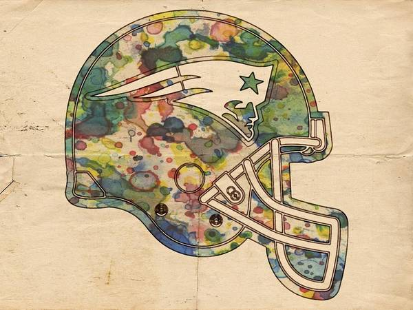 Painting - New England Patriots Helmet Art by Florian Rodarte