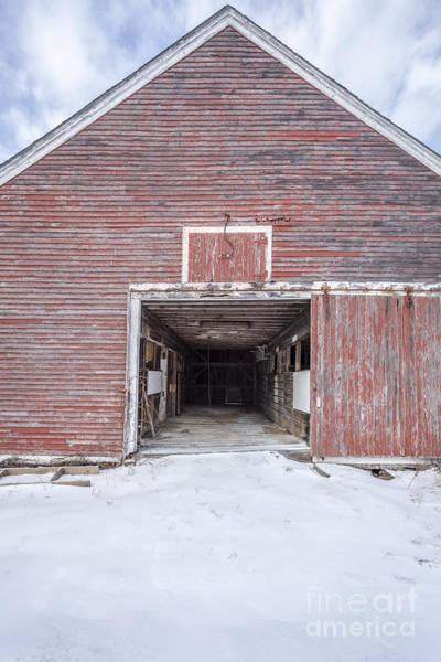 Photograph - New England Red Barn Open Door by Edward Fielding