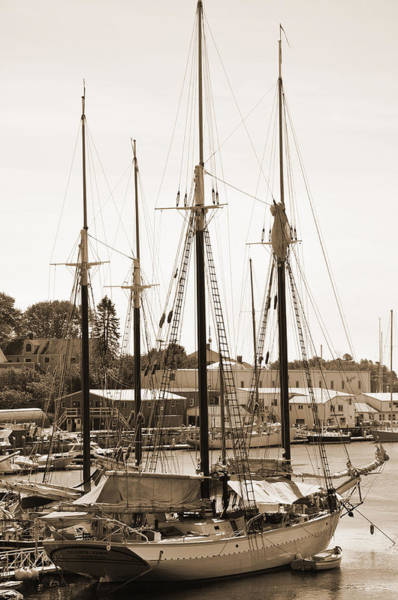 Digital Art - New England Sailboat by Kirt Tisdale