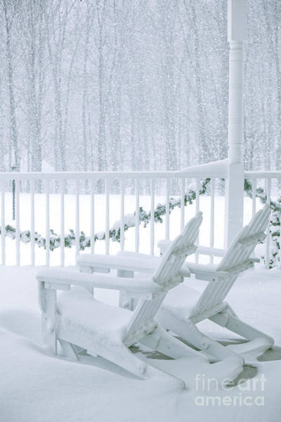 Wall Art - Photograph - New England Winter Porch by Diane Diederich