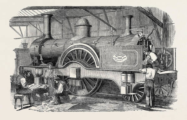 Locomotive Drawing - New Express Engine For The London And North-western Railway by English School