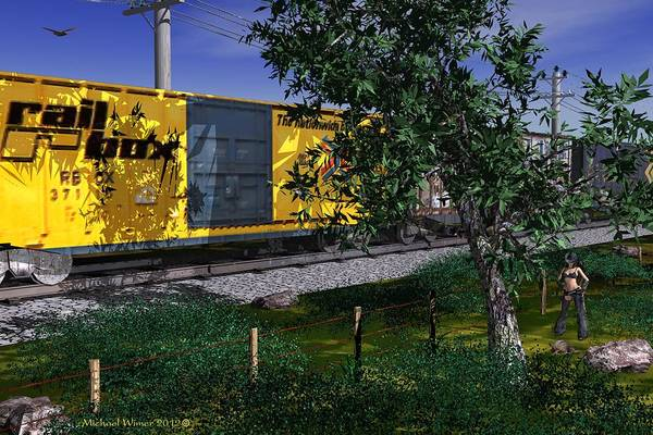 Speed Boat Digital Art - New Found Friend by Michael Wimer