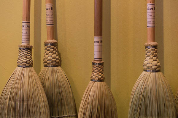 Broom Photograph - New Hampshire, Canterbury Shaker by Walter Bibikow