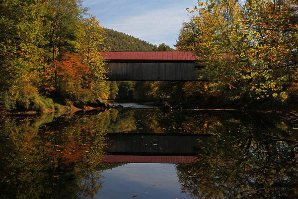 Photograph - New Hampshire Coombs Covered Bridge by Juergen Roth