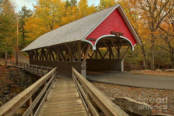Photograph - New Hampshire Covered Bridge by Adam Jewell