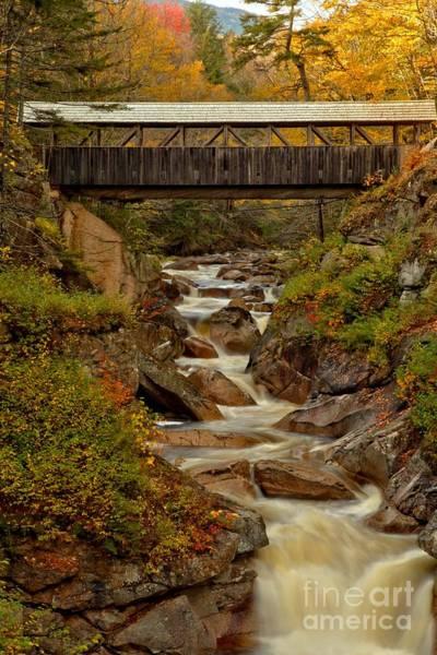 Photograph - New Hampshire Franconia Notch Bridge by Adam Jewell