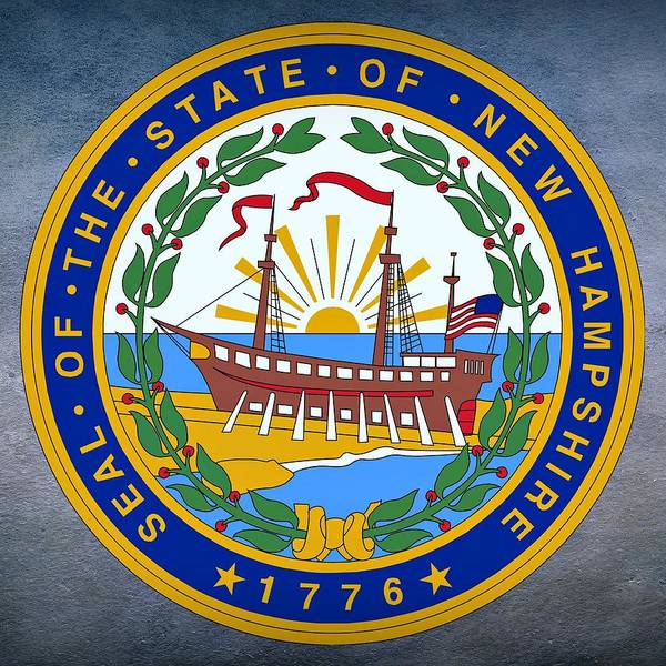 Digital Art - New Hampshire State Seal by Movie Poster Prints