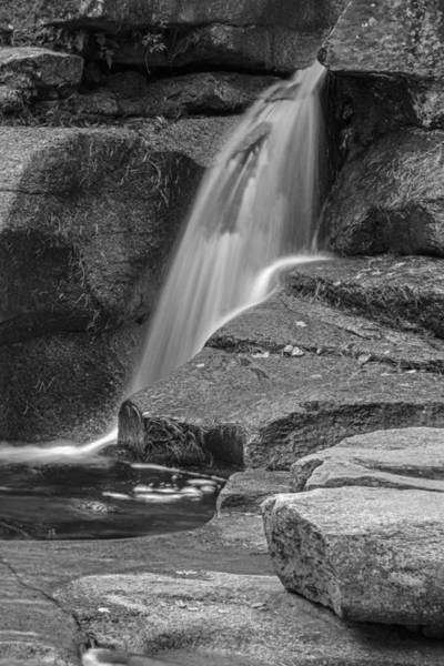 Photograph - New Hampshire Waterfall Black And White by Nancy De Flon