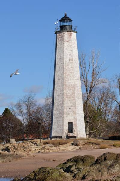 Photograph - New Haven Lighthouse Tower by Keith Stokes