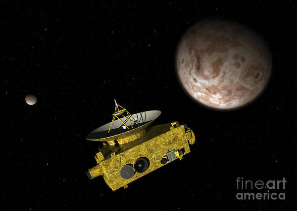Cosmology Digital Art - New Horizons Spacecraft Over Dwarf by Walter Myers