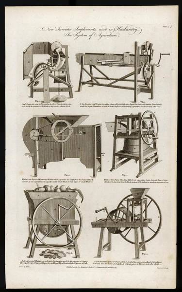 Farm Equipment Drawing - 'new Invented Implements Used by Mary Evans Picture Library