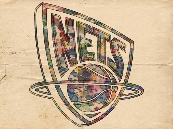 Painting - New Jersey Nets Retro Poster by Florian Rodarte