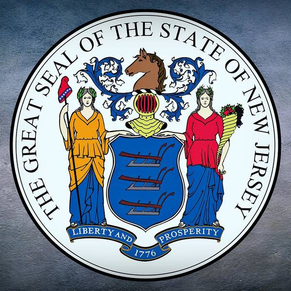 Digital Art - New Jersey State Seal by Movie Poster Prints