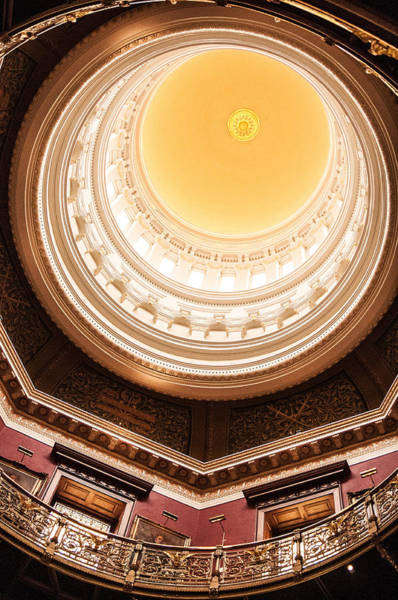 Don Johnson Photograph - New Jersey Statehouse Dome by Don Johnson