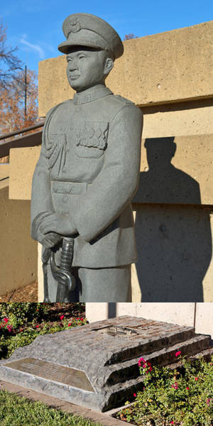 Photograph - New Journey - Chico's General Vang Pao Statue In January And October 2014 by James Warren