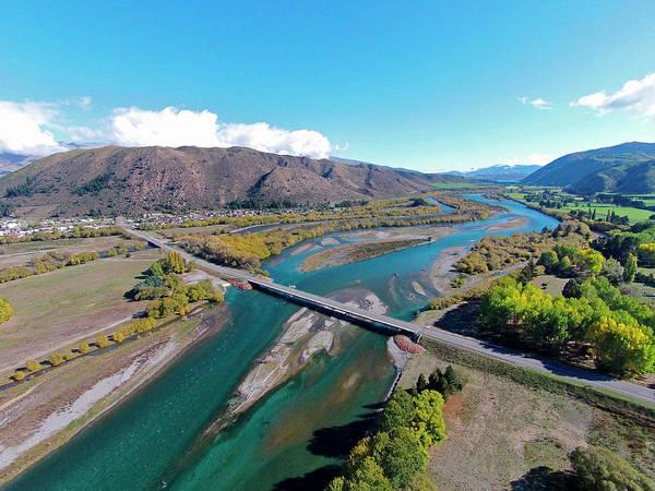 Braids Wall Art - Photograph - New Kurow Bridge Over Waitaki River by David Wall