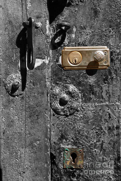 Photograph - New Lock On Old Door 1 by James Brunker