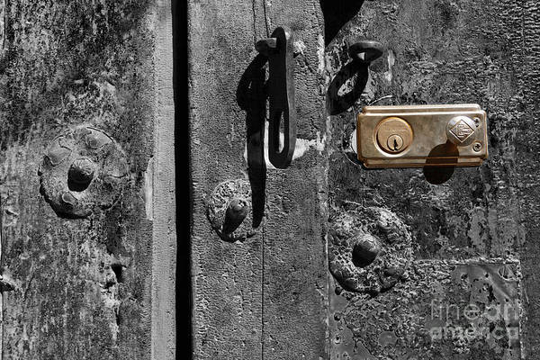 Photograph - New Lock On Old Door 2 by James Brunker