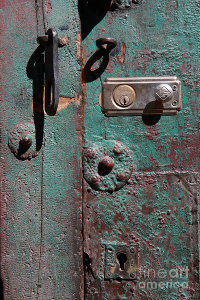 Photograph - New Lock On Old Door 3 by James Brunker