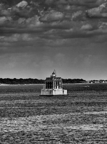 Coast Guard House Photograph - New London Shelf Light Black And White by Joshua House