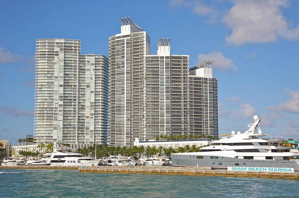 Luxury Yacht Photograph - New Luxury Apartment Towers Above by Barry Winiker