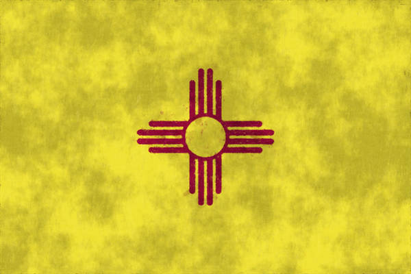 Wall Art - Digital Art - New Mexico Flag by World Art Prints And Designs