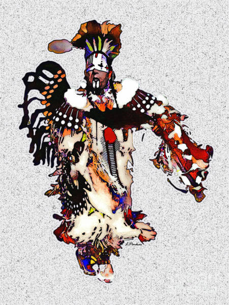 Powwow Wall Art - Photograph - New Mexico Native Dancer by Linda  Parker