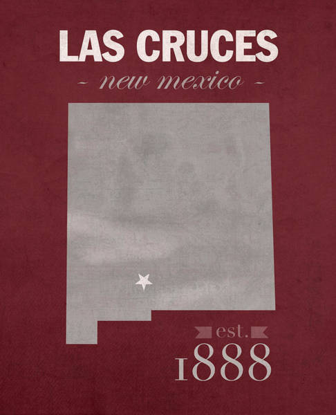 Wall Art - Mixed Media - New Mexico State University Las Cruces Aggies College Town State Map Poster Series No 075 by Design Turnpike