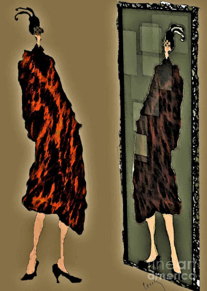 Vanity Digital Art - New Mink Coat  by Cecily Mitchell