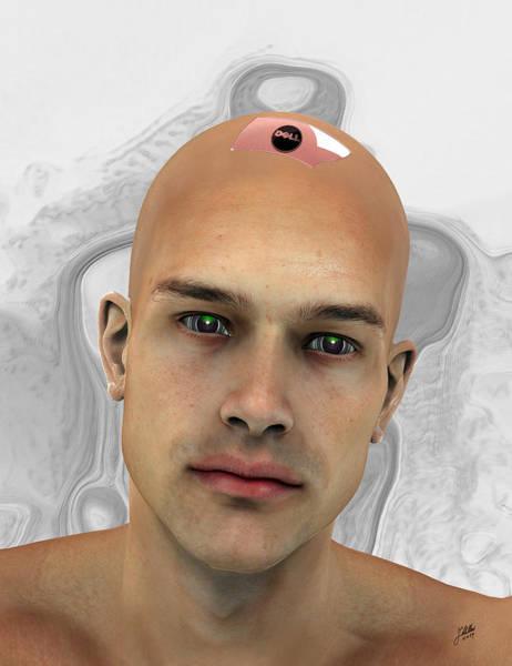 Cyborg Digital Art - New Model Of Adam by Quim Abella