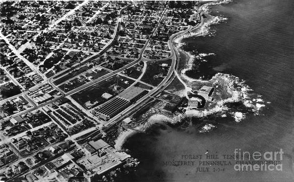 Photograph - Aerial Of New Monterey Hopkins Marine Station And Pacific Grove July 1932 by California Views Archives Mr Pat Hathaway Archives
