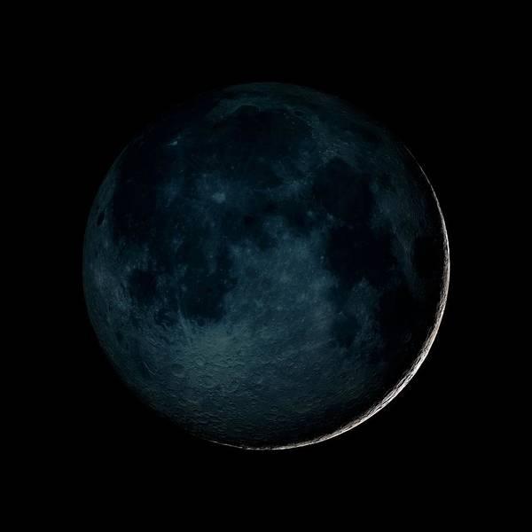 Elevation Photograph - New Moon by Nasa/gsfc-svs/science Photo Library