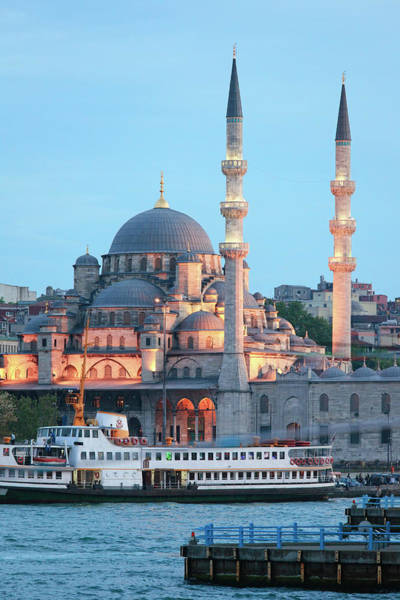 Galata Photograph - New Mosque Yeni Camii, From Galata by George Tsafos
