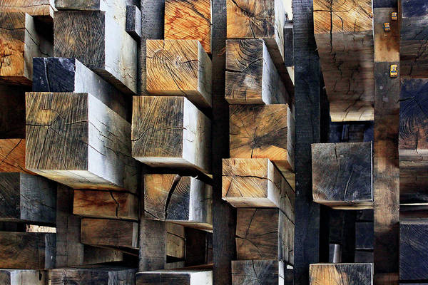 Wood Planks Photograph - New Oak City by Francois Casanova