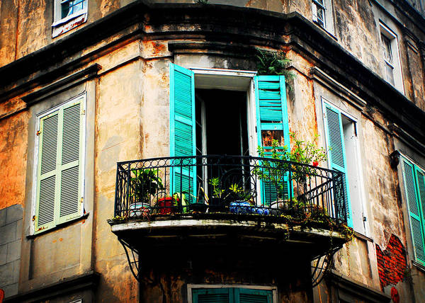 Photograph - New Orleans Balcony by Val Stone Creager