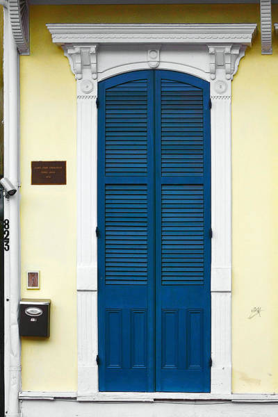 Wall Art - Photograph - New Orleans Blue Door by Christine Till