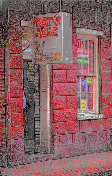 Photograph - New Orleans - Bourbon Street With Pencil Effect by Frank Romeo