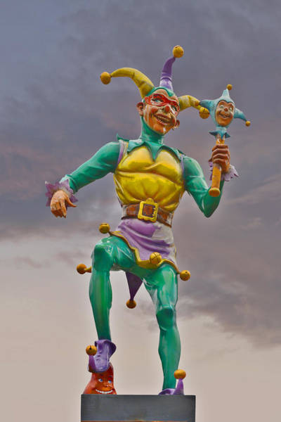 The Joker Photograph - New Orleans - Canal Street Ferry Jester by Christine Till
